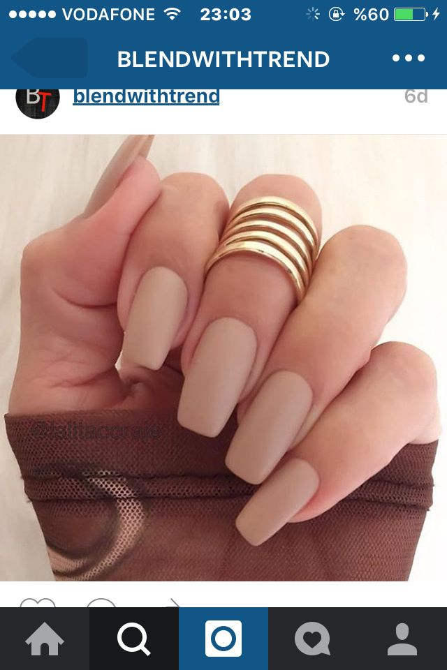 Nude matte gel nails