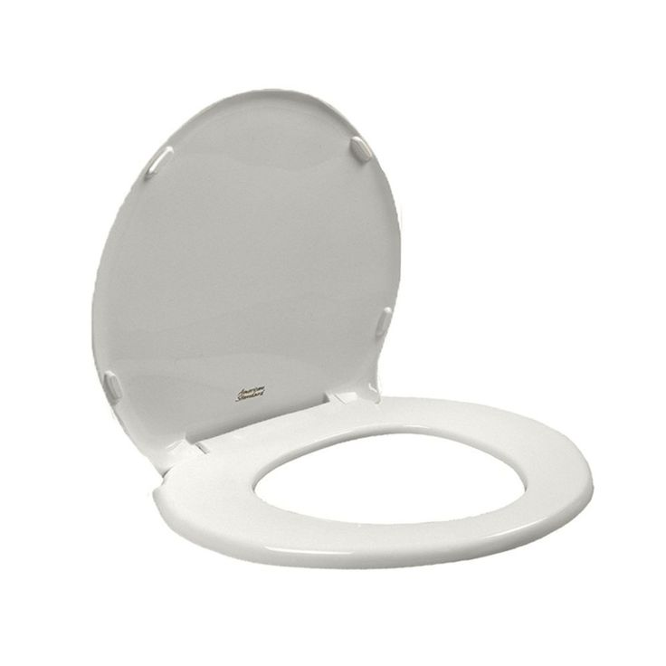 Shop American Standard Champion White Plastic Round Slow-Close Toilet Seat at Lowes.com