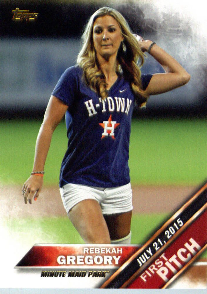 Rebekah Gregory 2016 Topps First Pitch #FP-18 Houston Astros Minute Maid Park