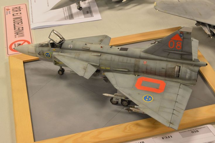 Saab Viggen in Swedish colors.