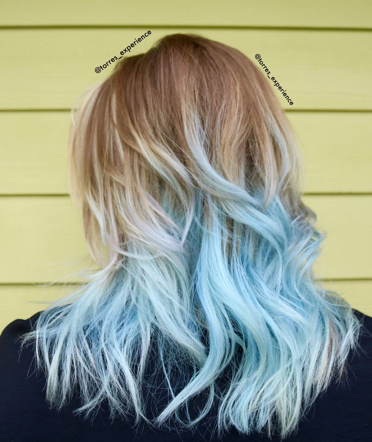 Pastel blue hair, frozen hair