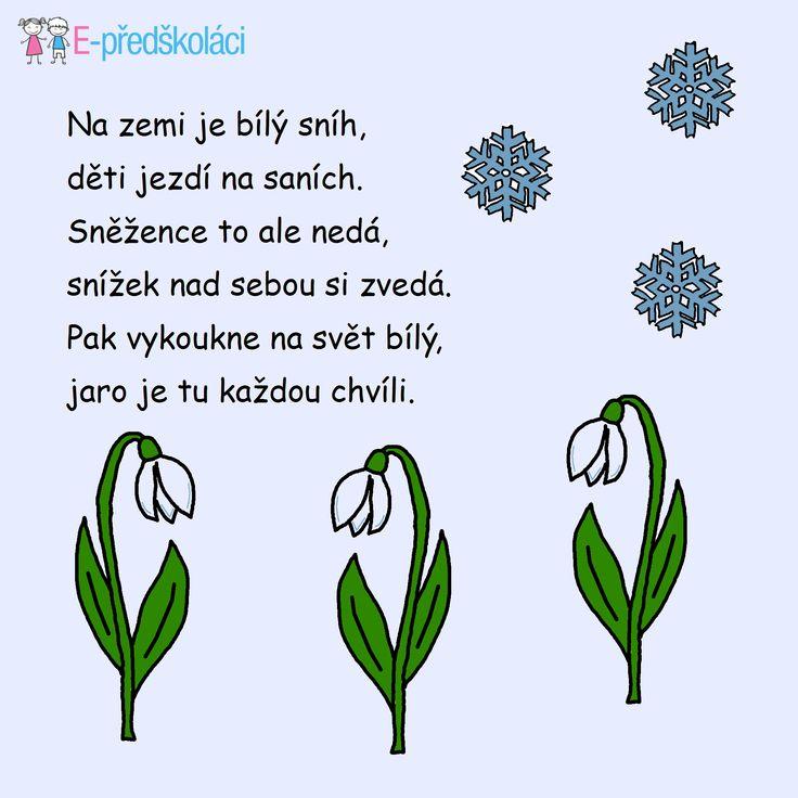Jaro - básnička Sněženka