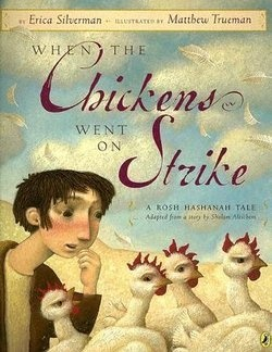 "Matthew Trueman illustration for ""When the Chickens Went on Strike""."