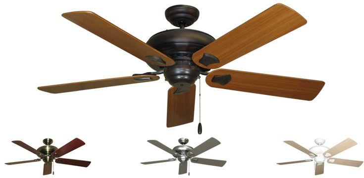 """Gulf Coast - Tiara Traditional Ceiling Fan w/ 52"""" Sweep Blades"""