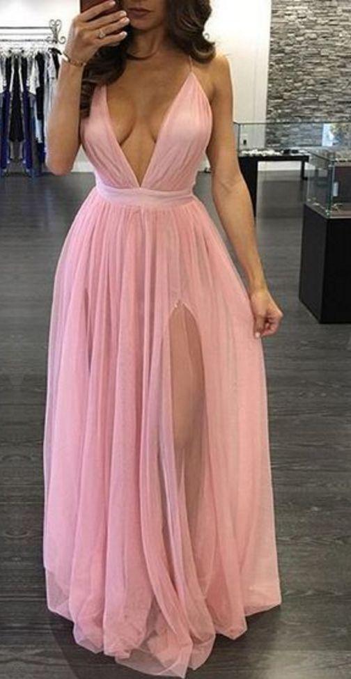 V-Neck Sexy Prom Dress,Long Prom Dresses,Prom Dresses,Evening Dress,