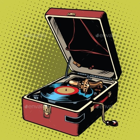 Phonograph Vinyl Record Player
