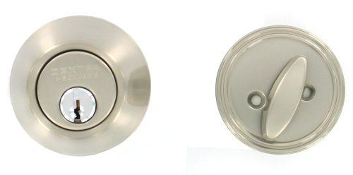 Dexter by Schlage JD60V619 Single-Cylinder Deadbolt, Satin Nickel