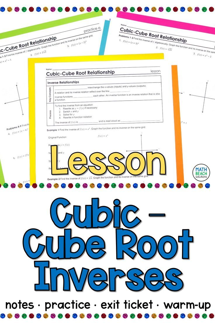Cubiccube root inverse functions lesson algebra lessons
