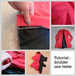 Tutoriel des filles à retordre : doubler la veste Pavot Deer and Doe