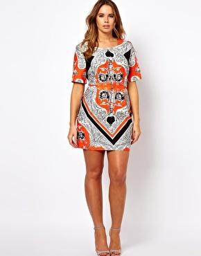 ASOS Mini Dress In Blocked Scarf Print. #Love #dress #fashion