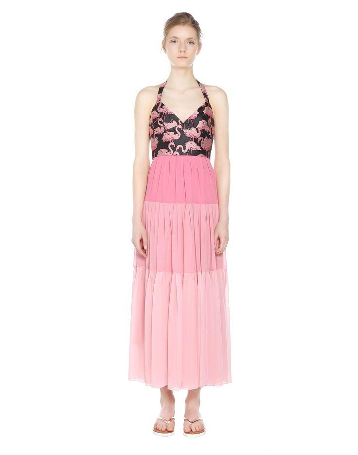 フラミンゴ ブロケード&モスリン ドレス - ドレス レディース REDValentino 【レッド ヴァレンティノ公式Eストア】