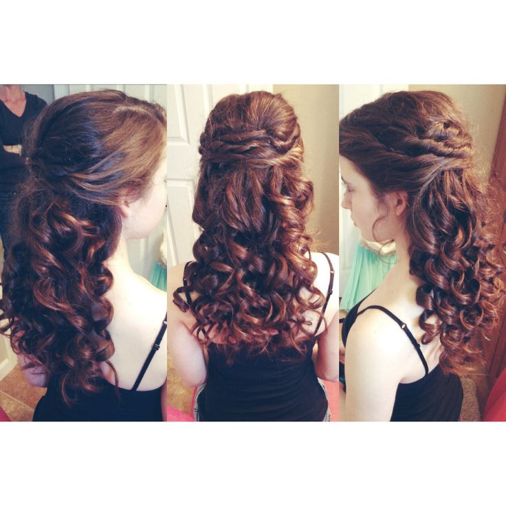 Hairstyles For Eighth Grade Dance : Hair i did for my sister s school dance also a great