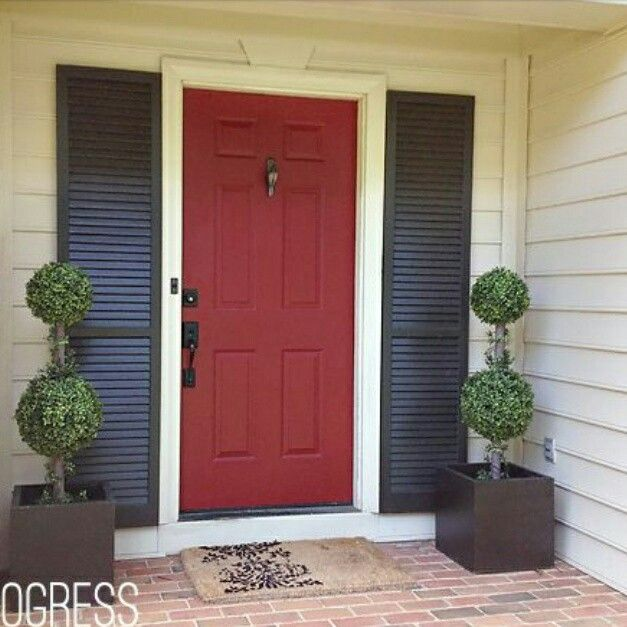 Best Red For Front Door: 15 Best Front Door Color Red Images On Pinterest