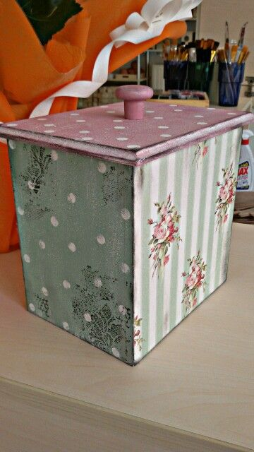 Cookie box decoupage rice paper itd