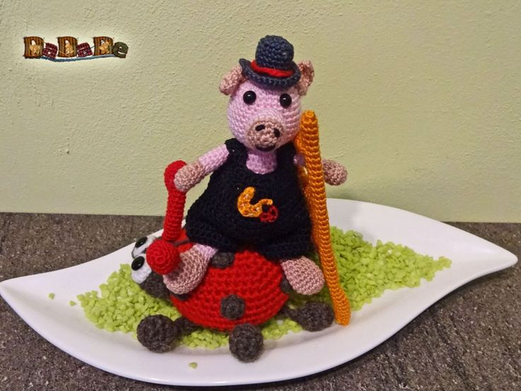 der Marienkäfer hat Schwein, Dekoration für Silvester - gehä - MyPatterns