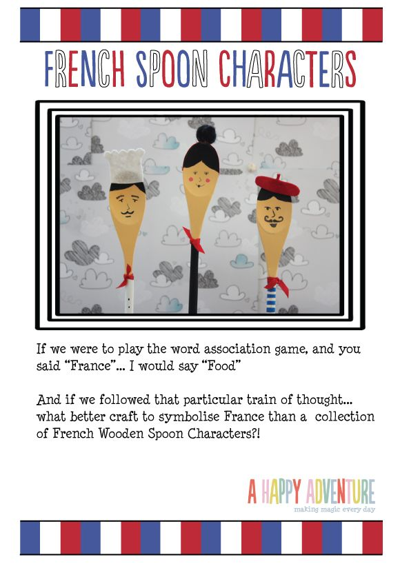 French Spoon Characters... part of the Little World France series