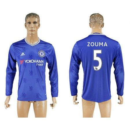 Chelsea 16-17 #Zouma 5 Hjemmebanetrøje Lange ærmer,245,14KR,shirtshopservice@gmail.com