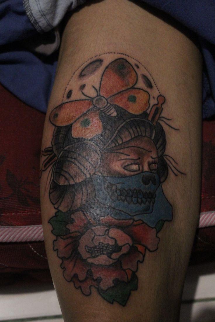 Old school geisha tattoo by me! #oldschooltattoo#geisha