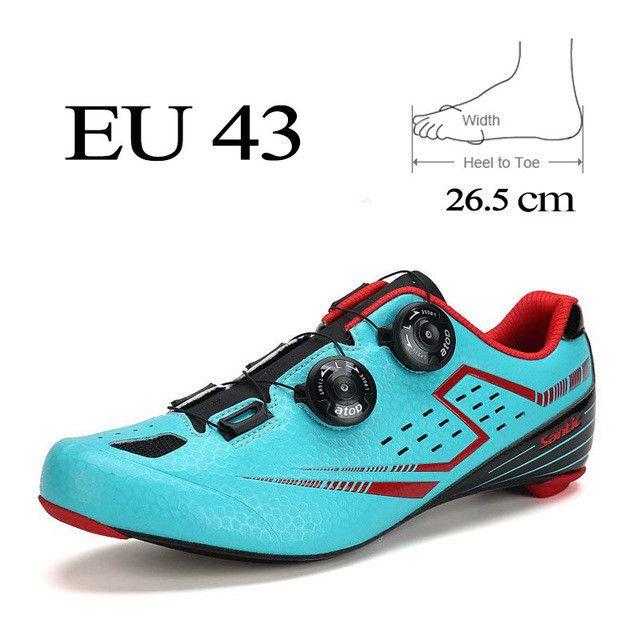 Santic Men Road Cycling Shoes 2017 Carbon Fiber Road Bike Shoes Self-Locking Athletic Bicycle Shoe Sneakers