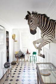 """NOIR BLANC un style: L'incroyable appartement parisien """"cabinet de curiosités"""" de Sacha Walckoff, assistant de Christian lacroix."""