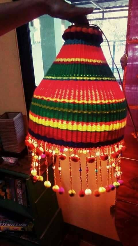Check out this item in my Etsy shop https://www.etsy.com/listing/267557248/hill-tribe-cotton-yarn-lamp-zyra