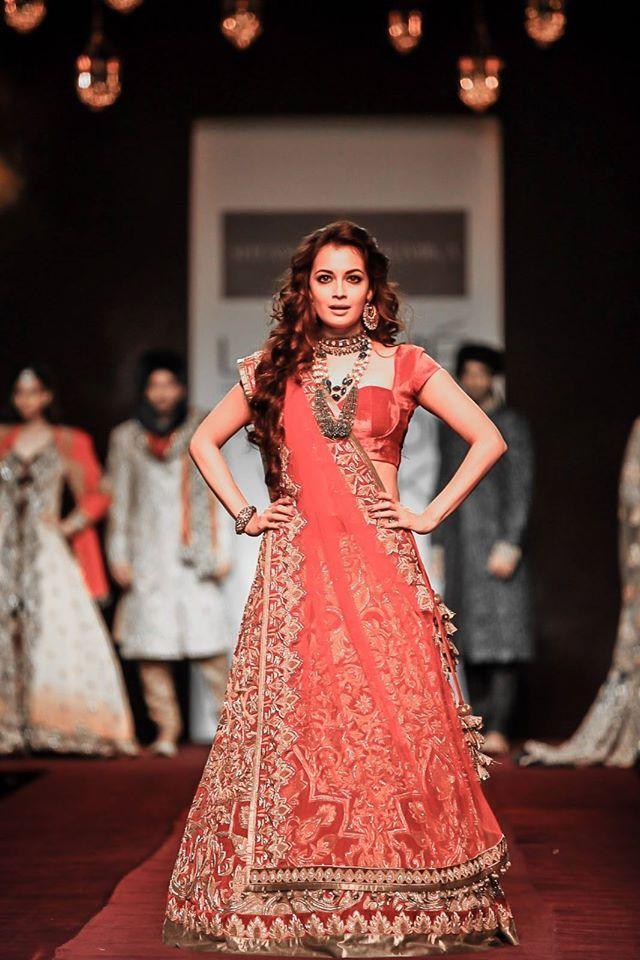 The sensational #DiaMirza wearing #Shyamal & #Bhumika