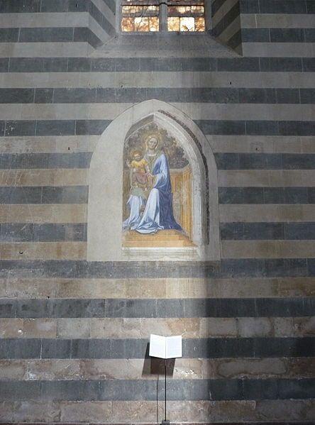 Gentile da Fabriano - Madonna con il Bambino - affresco - 1425 ca. - Cattedrale di S. Maria Assunta in Cielo, Orvieto (Umbria, Italia)