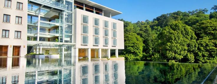 Infinity pool at Padma Hotel Bandung, West Java, Indonesia http://www.nusatrip.com/id/lokasi/asia/indonesia/jawa_barat/bandung #nusatrip #hotel #bandung #indonesia #destination #travel #travelingideas #holiday #onlinetravelagency #pool #infinitypool