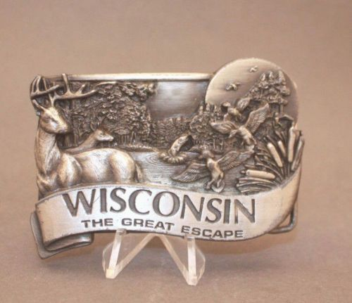 1984 Wisconsin belt buckle by Bergamot Brass Works available at our eBay store!