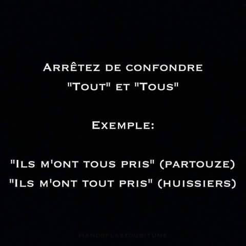 """LINE BOTWIN """"le poids des mots"""" #citation Arrêtez de confondre """"tout"""" et """"tous"""" ..."""