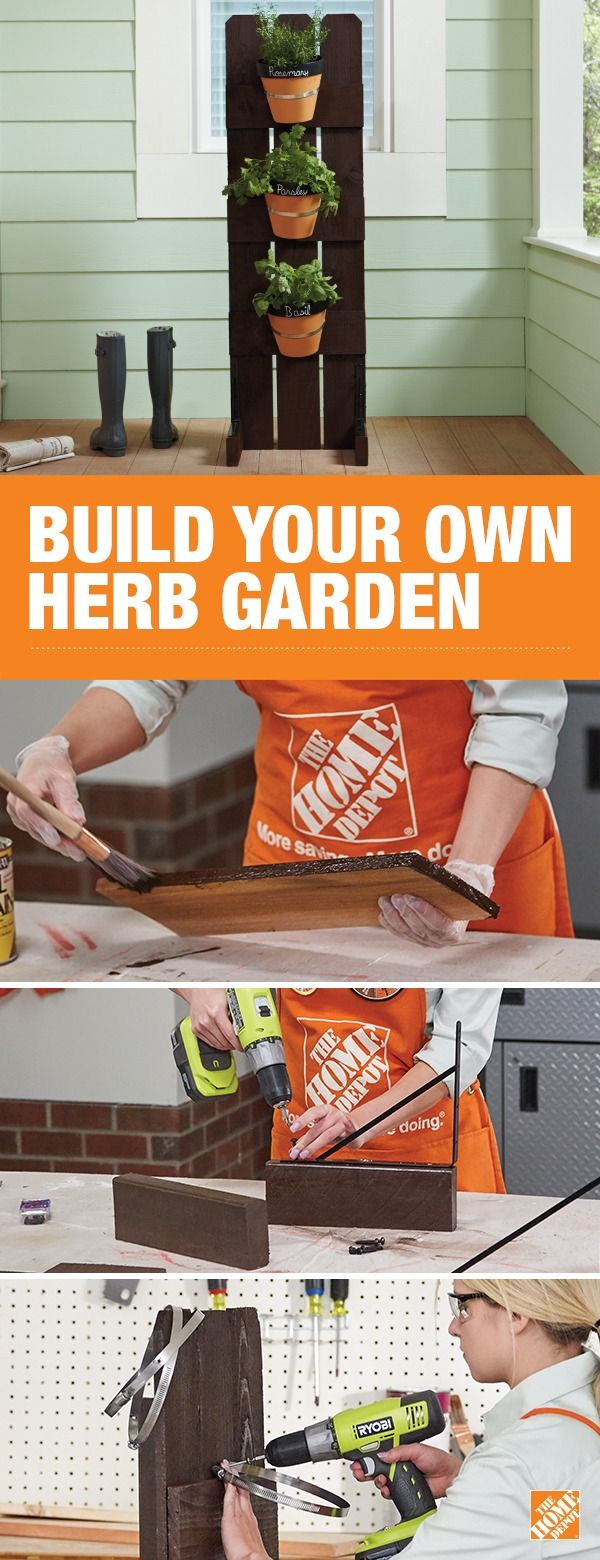 Build a beautiful and space-saving DIY vertical herb garden for your home. With your own easily accessible garden, you can kick-up your cooking with fresh herbs like basil, mint and parsley. Click to get step-by-step instructions to learn how to build your own.