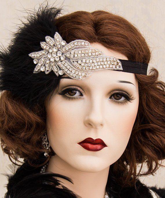 Rhinestone 1920s Roaring Flapper Headbands Great Gatsby  70bf1f157d2
