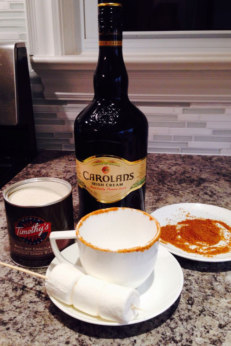 irish cream cocktail, white s'more hot chocolate, christmas cocktails, party cocktails