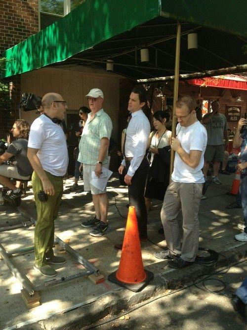 Matt Bomer and Willie Garson on the NYC set of White Collar Season 5