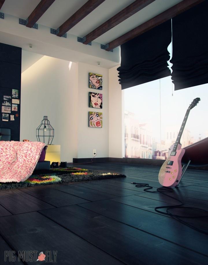 3D render for interior visualization/ Render 3D para visualizacion arquitectonica para interiores y exteriores