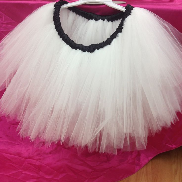 Classic white knee-length ladies tutu skirt - perfect for just about anything