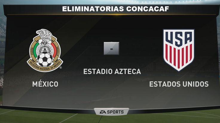 México vs Estados Unidos 2017 RESUMEN Eliminatorias CONCACAF Simulador F...