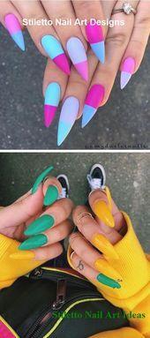 30 große Stiletto Nail Art Design-Ideen 1 #nails #naildesigns   – Home decor