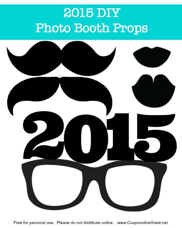 DIY Project: Make your own New Years Eve Photo Booth Props with Free Printable