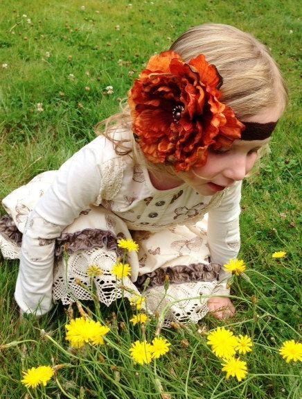 Fascia arancione peonia archetto color zucca fascia di lexicouture