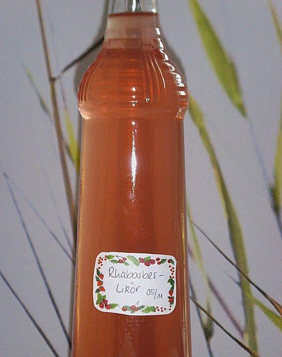 Rhabarber - Vanille - Likör 1