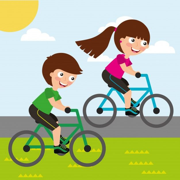 Linda Nina Y Nino Montando Bicicleta Car Premium Vector Freepik Vector Deporte Chica Lindo Sonrisa Bicicletas Ninos Bicicleta Dibujo Bicicletas
