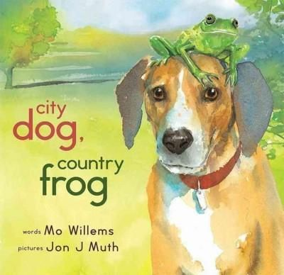 In spring, when City Dog runs free in the country for the first time, he spots Country Frog sitting on a rock, waiting for a friend. You'll do, Frog says, and together they play Country Frog games. In