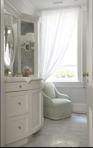17 best images about gray walls white trim on pinterest for White carrera marble bathrooms