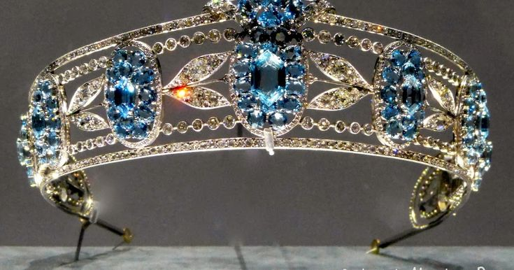 Laurel Tiara. Cartier London, circa 1930. Platinum, diamonds, aquamarines It's January in France, which means that people are devouring...