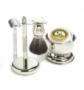 Special treatment for men!  http://shavingbrush.net/5-piece-col-conk-chrome-shaving-mens-grooming-set-merkur-safety-razor-stand-soap-bowl-brush-150-value/