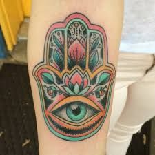 Afbeeldingsresultaat voor hamsa tattoo
