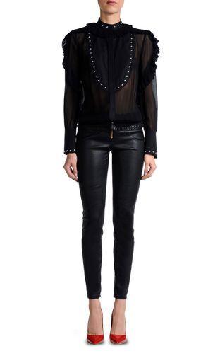 Кожаные брюки Для Женщин - Брюки Для Женщин on Just Cavalli Online Store