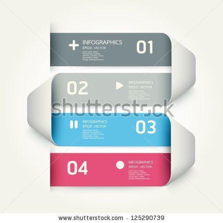 stock vector : Modern Design template / can be used for infographics / numbered banners / horizontal cutout lines / graphic or website layout vector