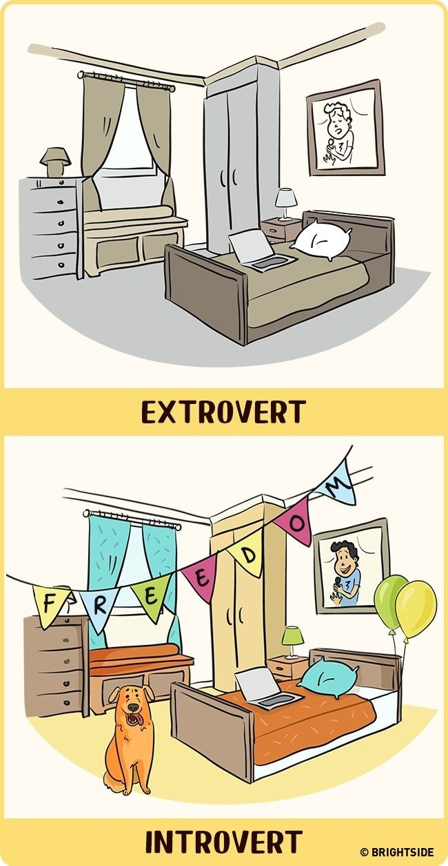 Home for an introvert is the best place on Earth. If you're an extrovert, it's just a place to catch your breath.